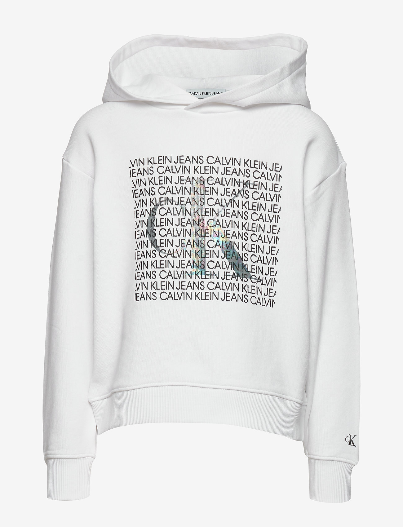 Calvin Klein - IRIDESCENT LOGO HOODIE - hoodies - bright white - 0