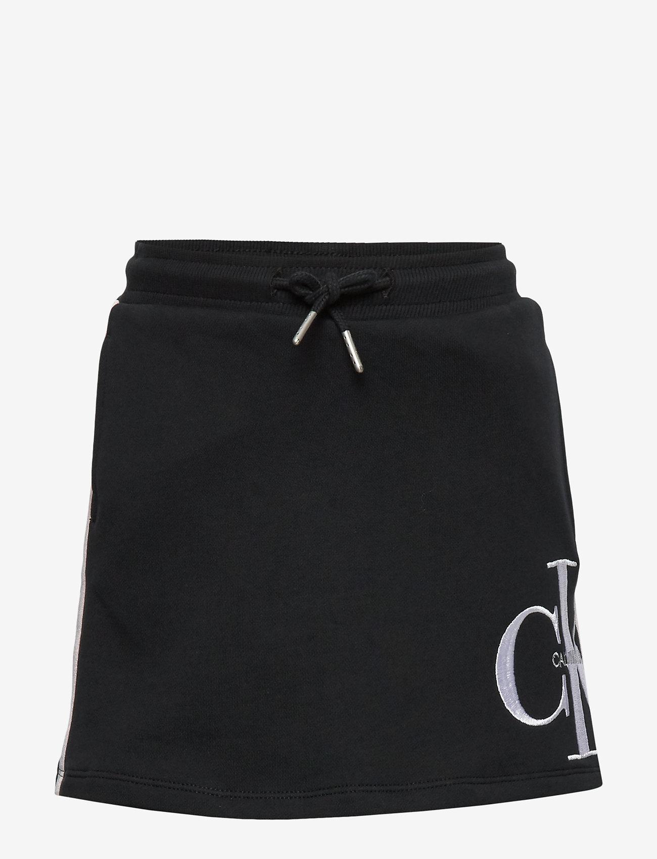 Calvin Klein - MONOGRAM STRIPE KNIT - spódnice - ck black - 0