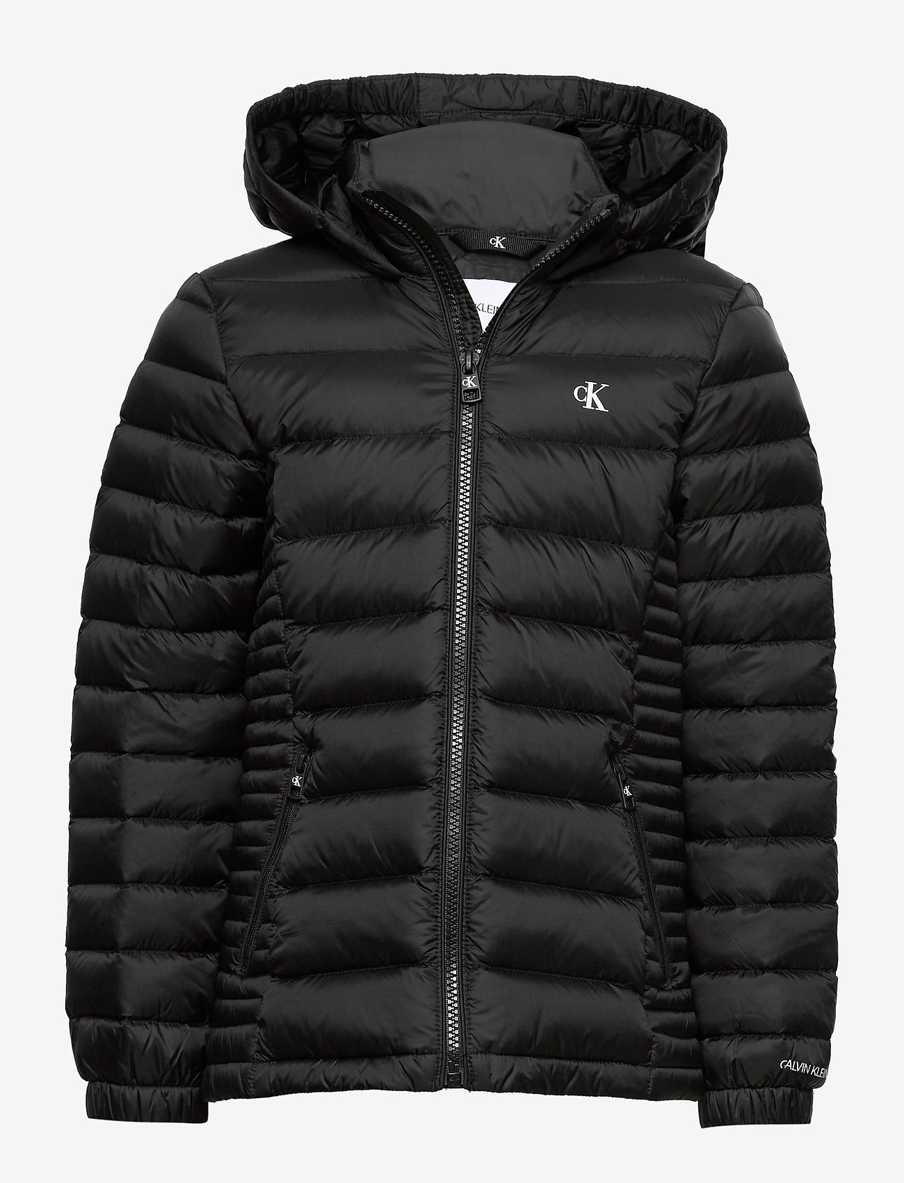 Calvin Klein - FITTED LIGHT DOWN JACKET - dunjakker & forede jakker - ck black - 0