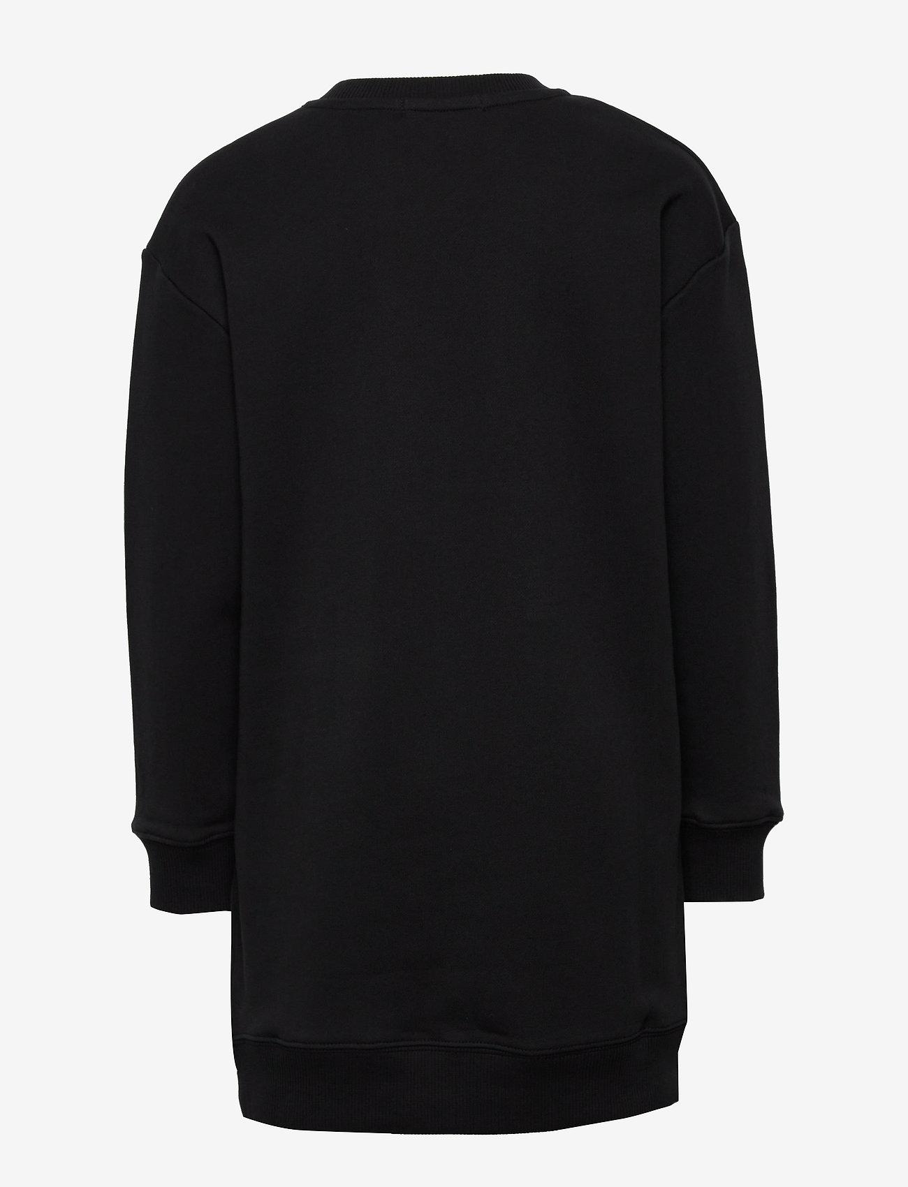 Calvin Klein - NEON MONOGRAM SWEATSHIRT DRESS - robes - ck black - 1