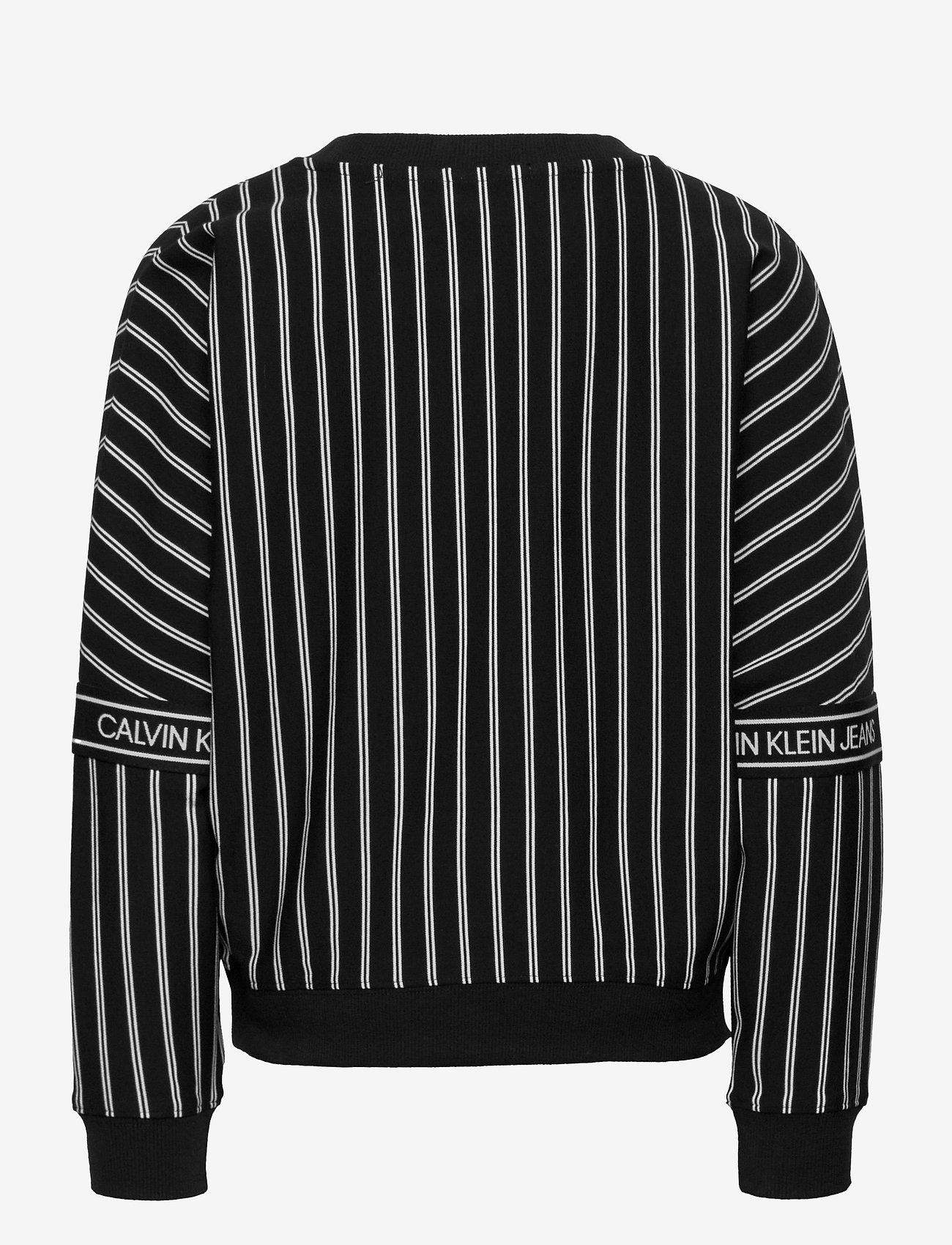 Calvin Klein - STRIPE LOGO TAPE SWEATSHIRT - sweatshirts - ck black city yd stripe - 1