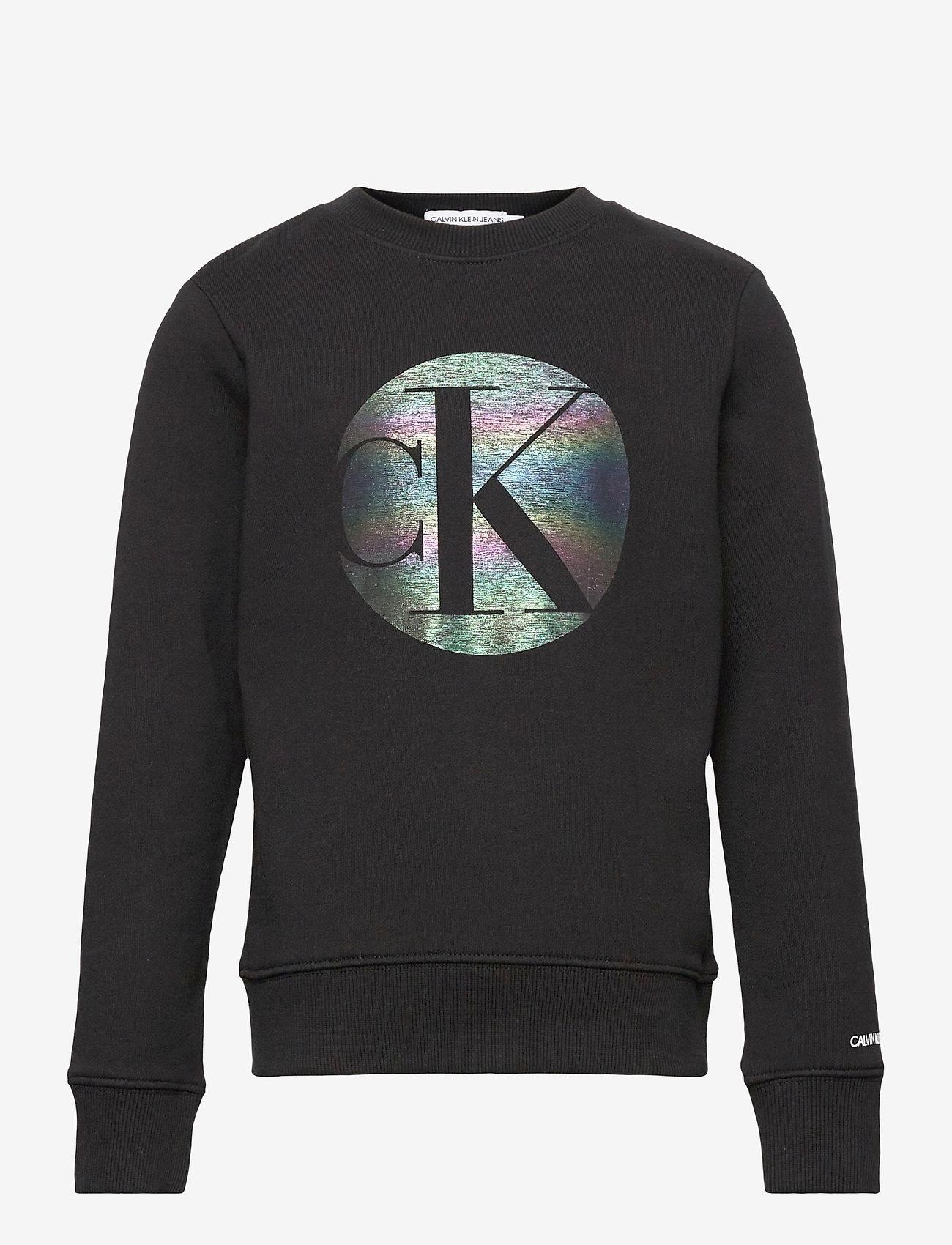Calvin Klein - CIRCLE MONOGRAM SWEATSHIRT - sweatshirts - ck black - 0