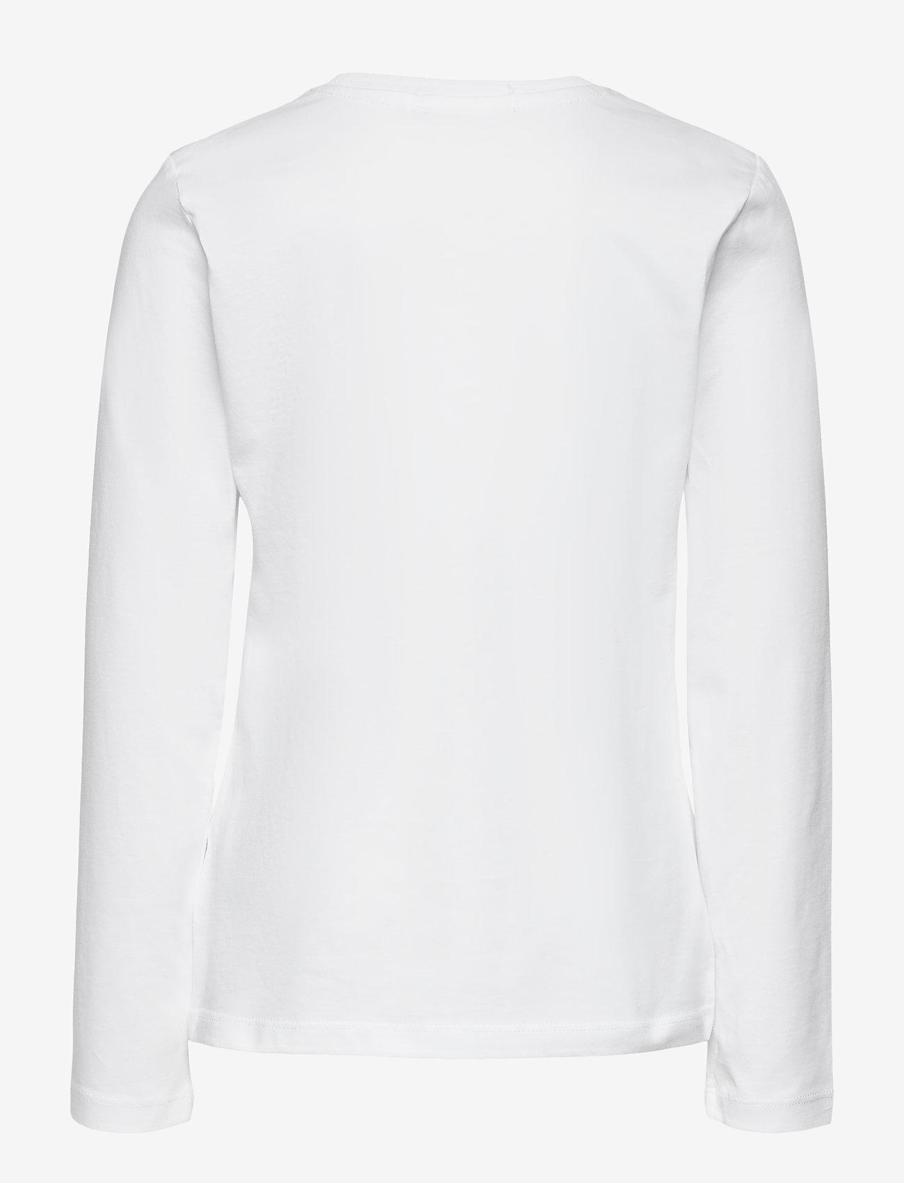 Calvin Klein - FOIL LOGO SLIM LS T-SHIRT - langärmelig - bright white - 1