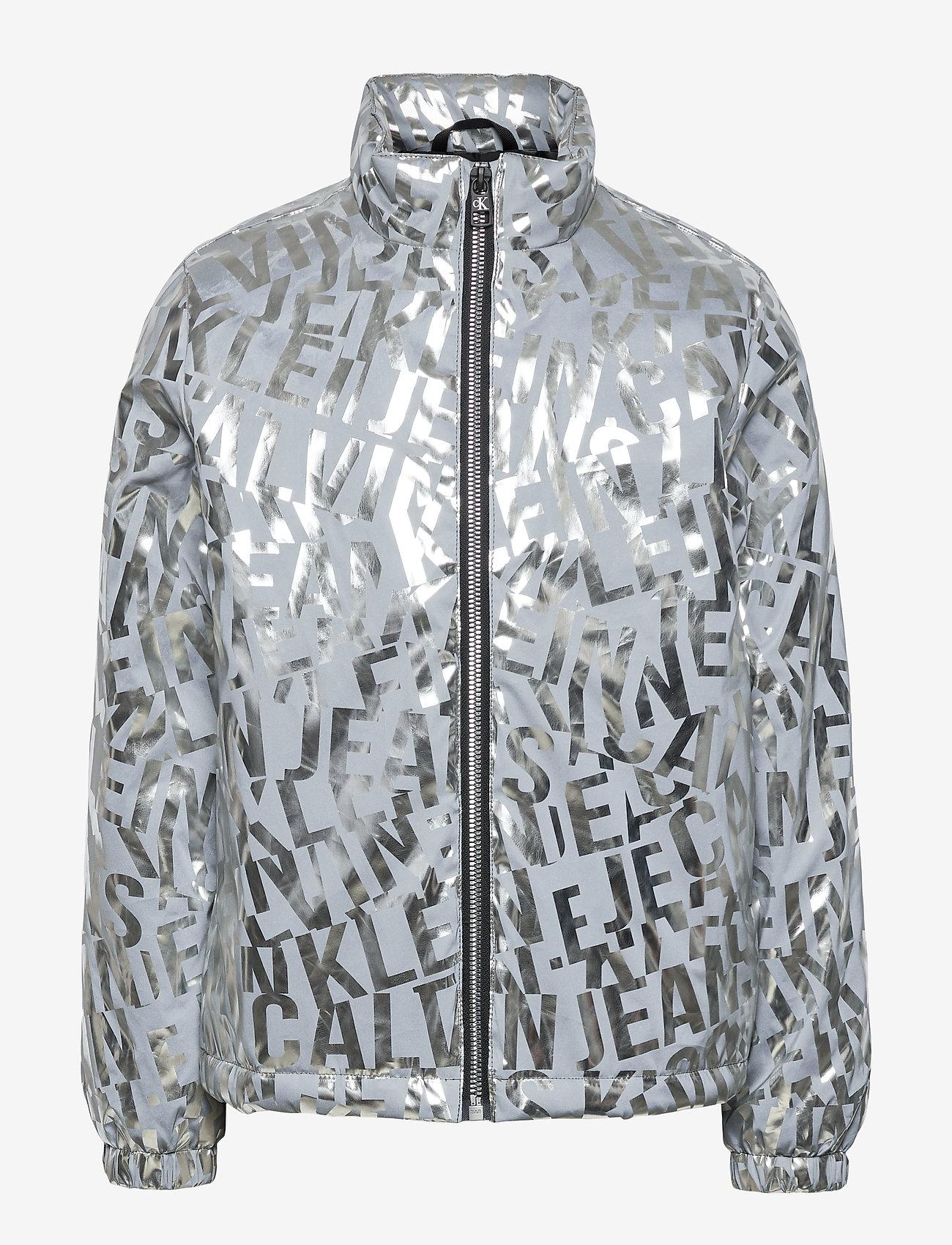 Calvin Klein - LOGO METALLIC JACKET - bomberjacks - silver foil  aop - 0