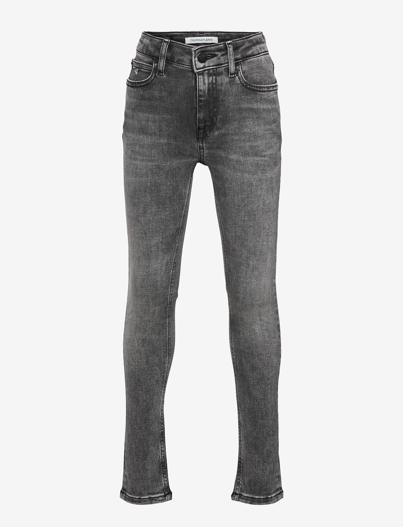 Calvin Klein - SKINNY HR MN DRK WASH GREY ST - jeans - monogram dark wash grey stretch - 0