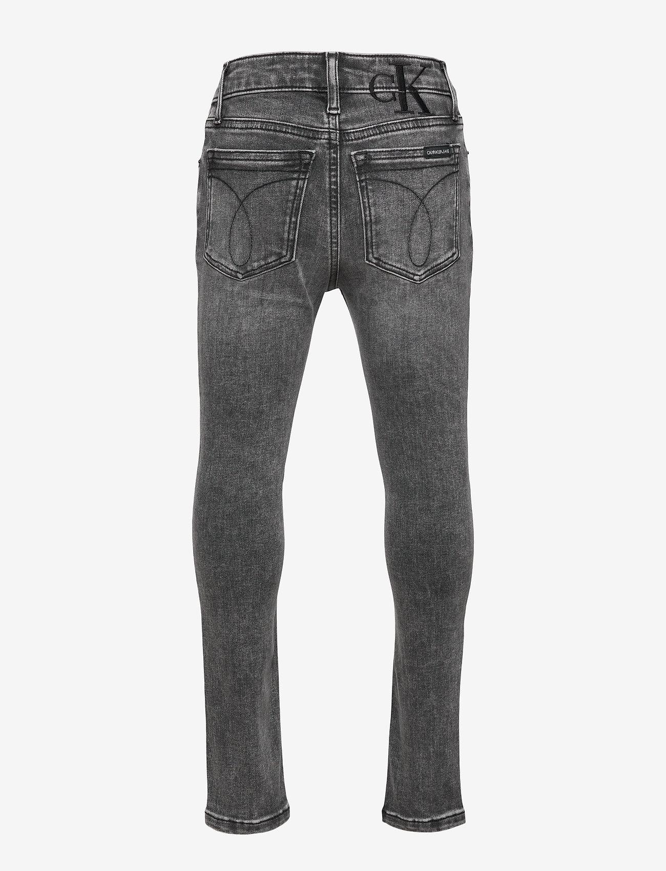 Calvin Klein - SKINNY HR MN DRK WASH GREY ST - jeans - monogram dark wash grey stretch - 1