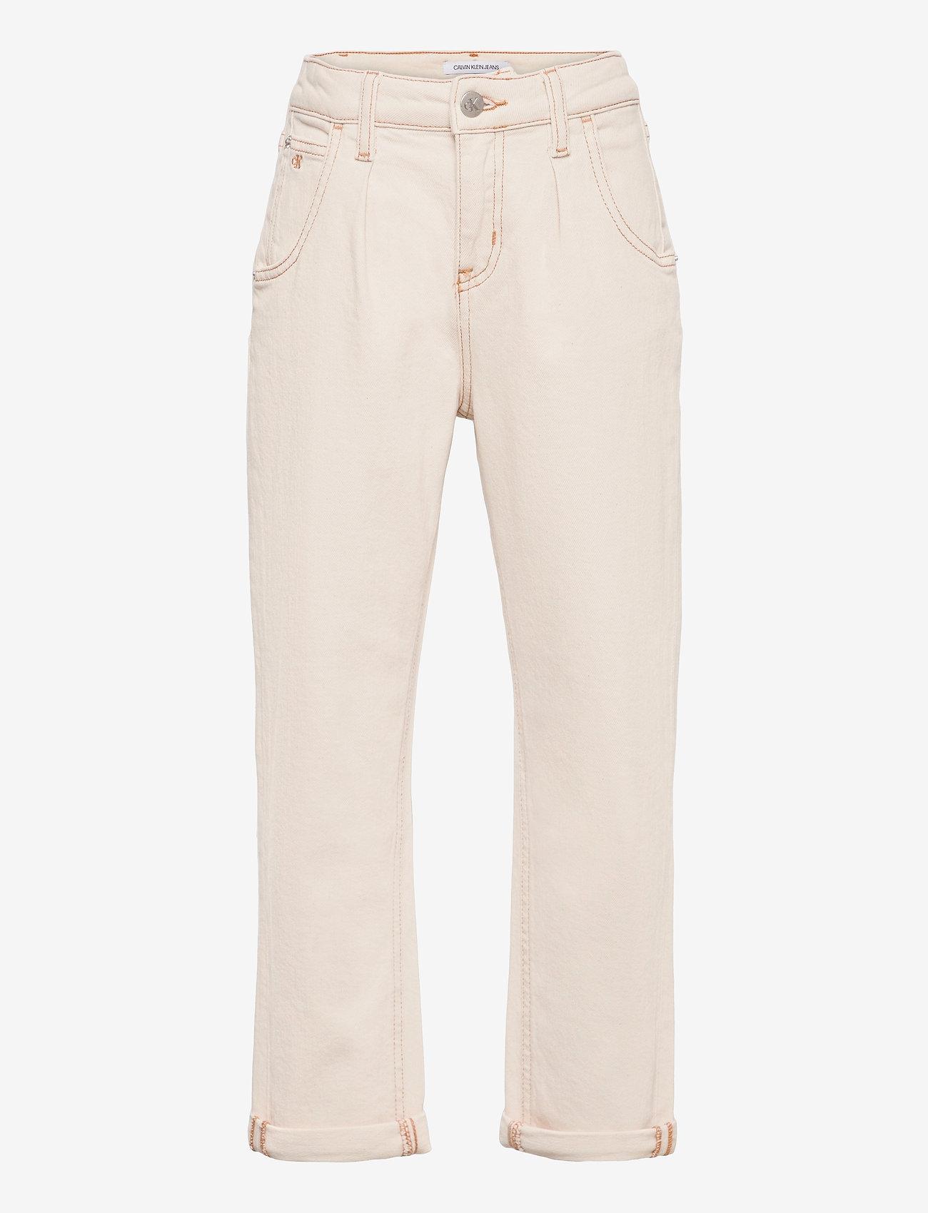 Calvin Klein - BARREL LEG ECRU NATURAL COM - jeans - ecru natural comfort - 0