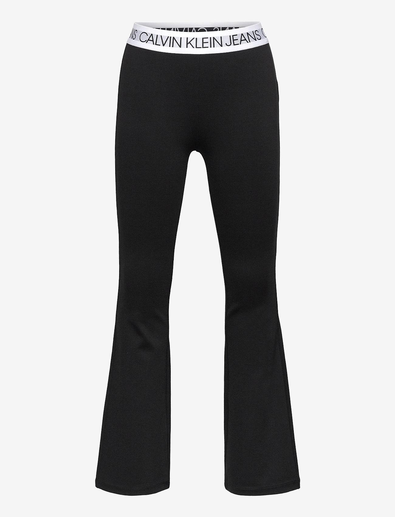 Calvin Klein - LOGO WAISTBAND PUNTO PANTS - trousers - ck black - 0
