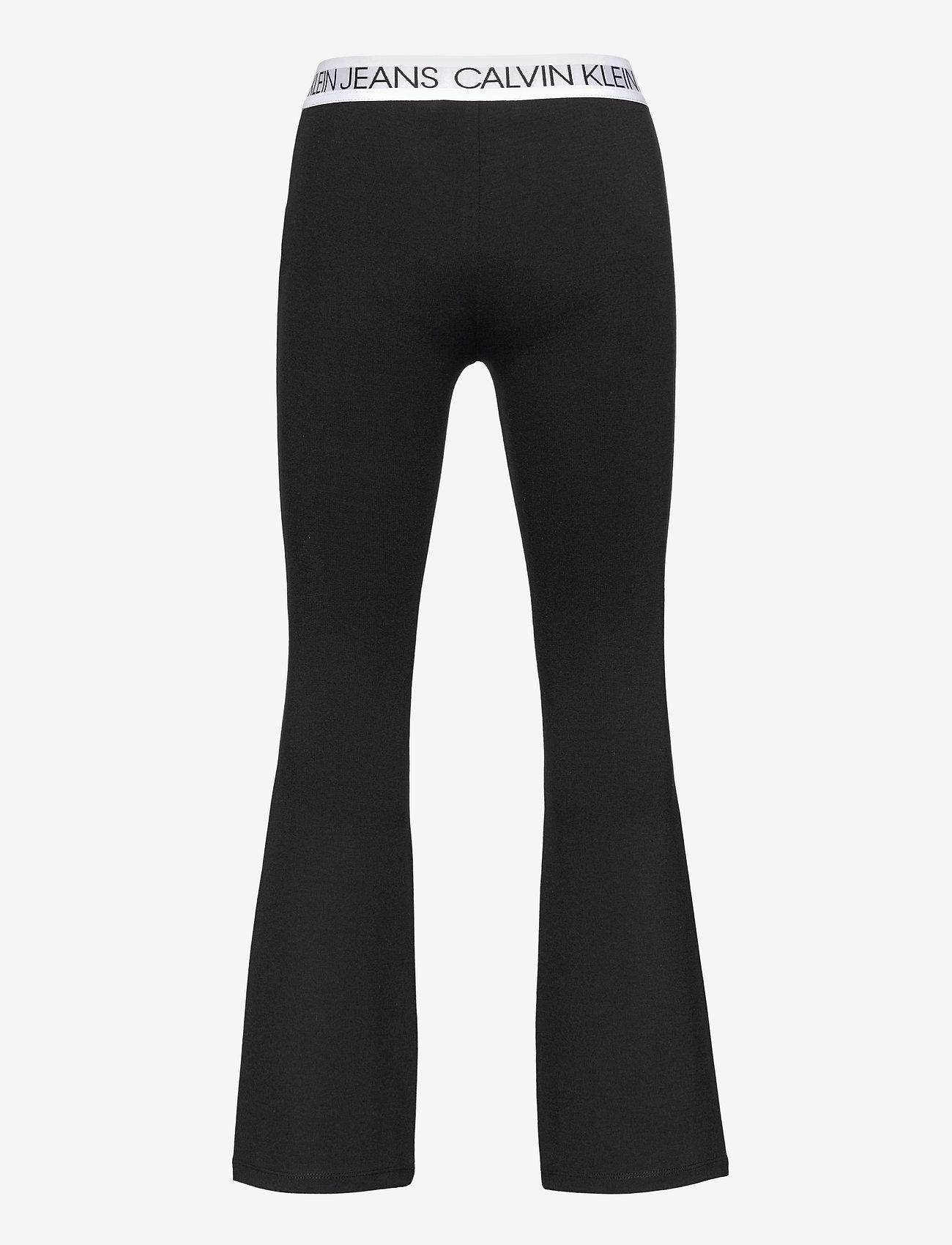 Calvin Klein - LOGO WAISTBAND PUNTO PANTS - trousers - ck black - 1