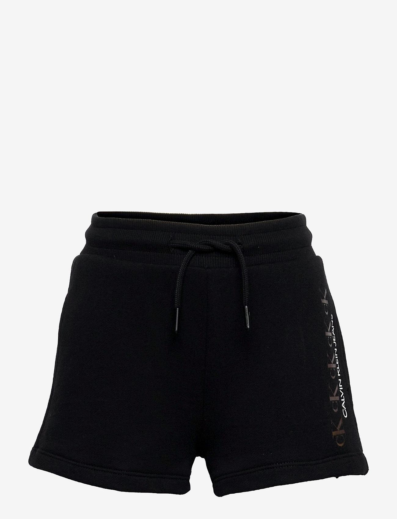 Calvin Klein - CK REPEAT FOIL KNIT SHORTS - shorts - ck black - 0