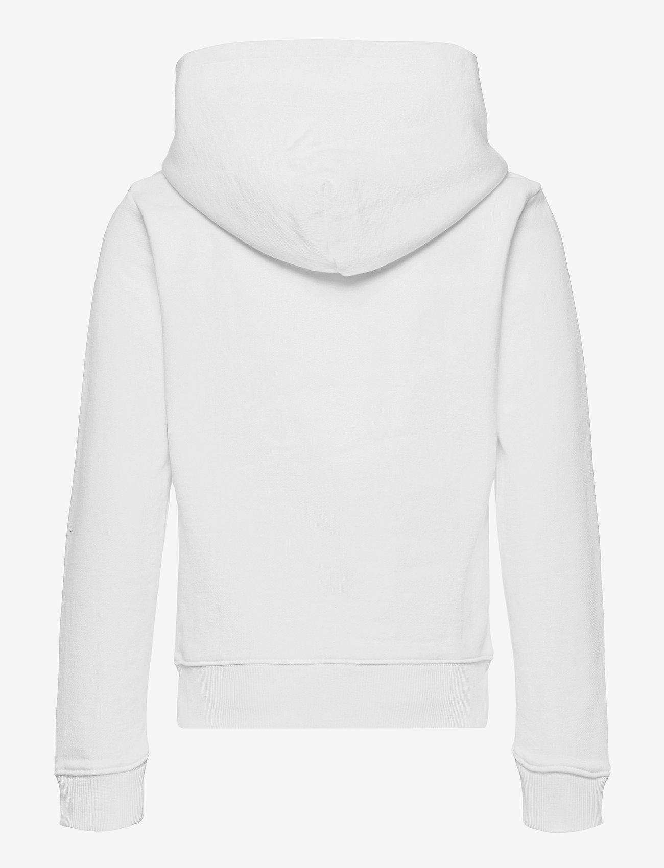 Calvin Klein - HYBRID LOGO HOODIE - kapuzenpullover - bright white - 1