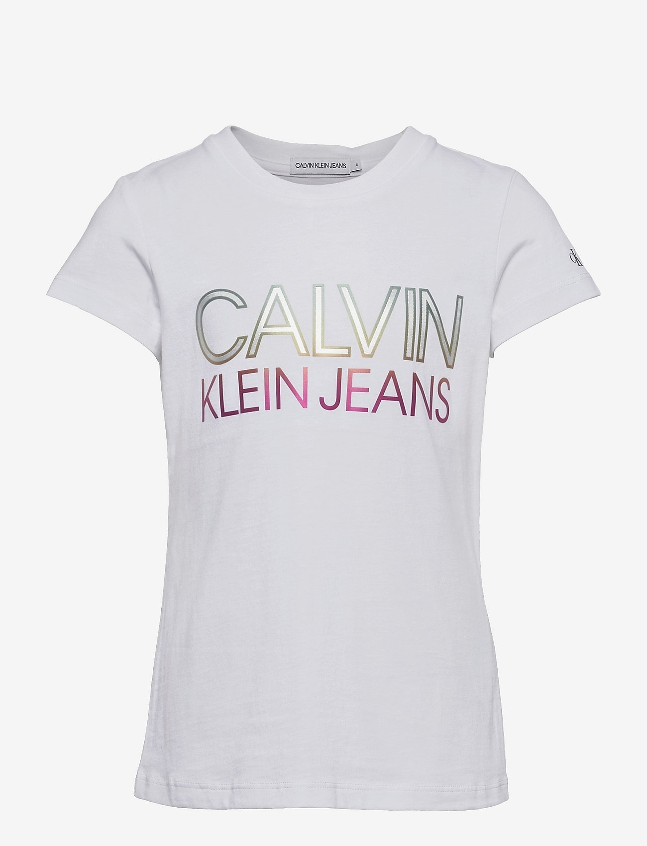 Calvin Klein - GRADIENT CKJ LOGO T-SHIRT - kortærmede - bright white - 0