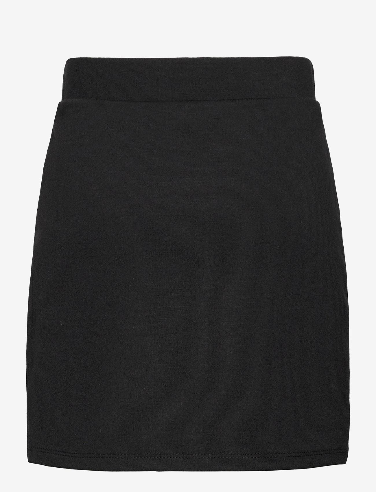 Calvin Klein - LOGO TAPE PUNTO SKIRT - röcke - ck black - 1