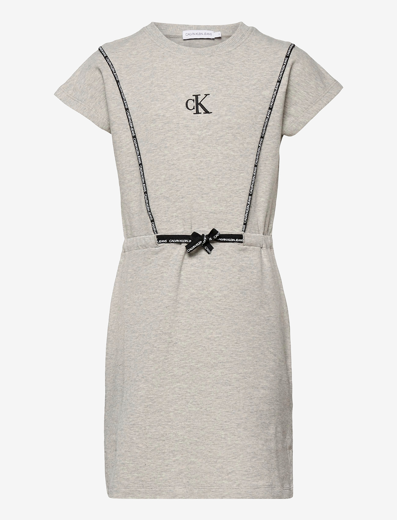 Calvin Klein - SHORT DRESS WITH PIPING DETAIL - kleider - light grey heather - 0