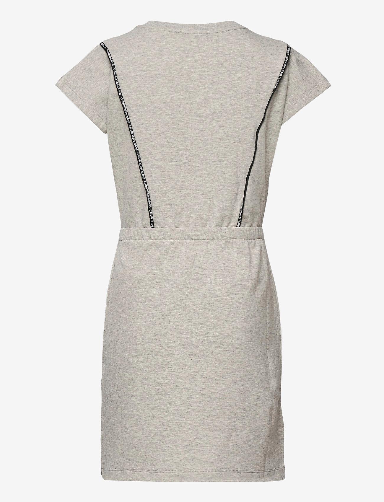 Calvin Klein - SHORT DRESS WITH PIPING DETAIL - kleider - light grey heather - 1