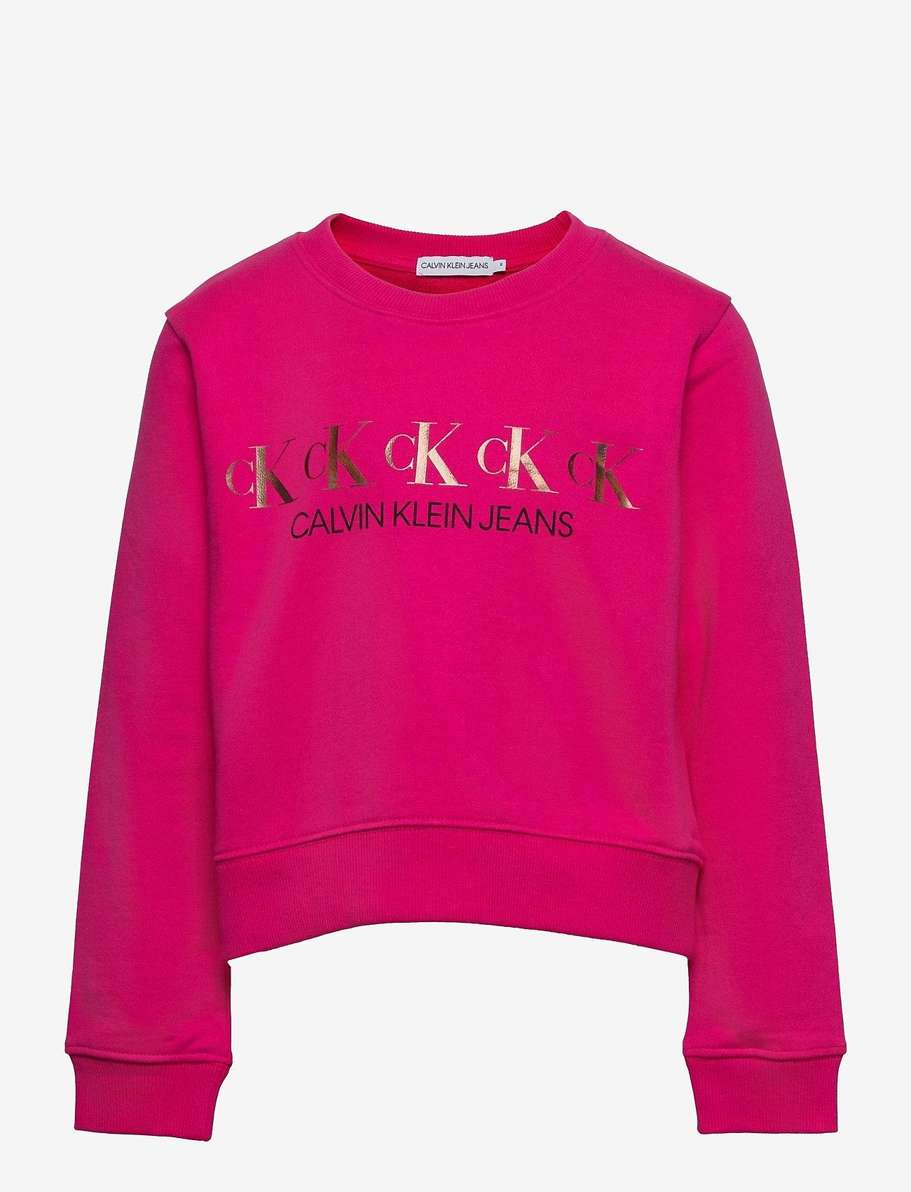 Calvin Klein - CK REPEAT FOIL SWEATSHIRT - sweatshirts - hot magenta - 0