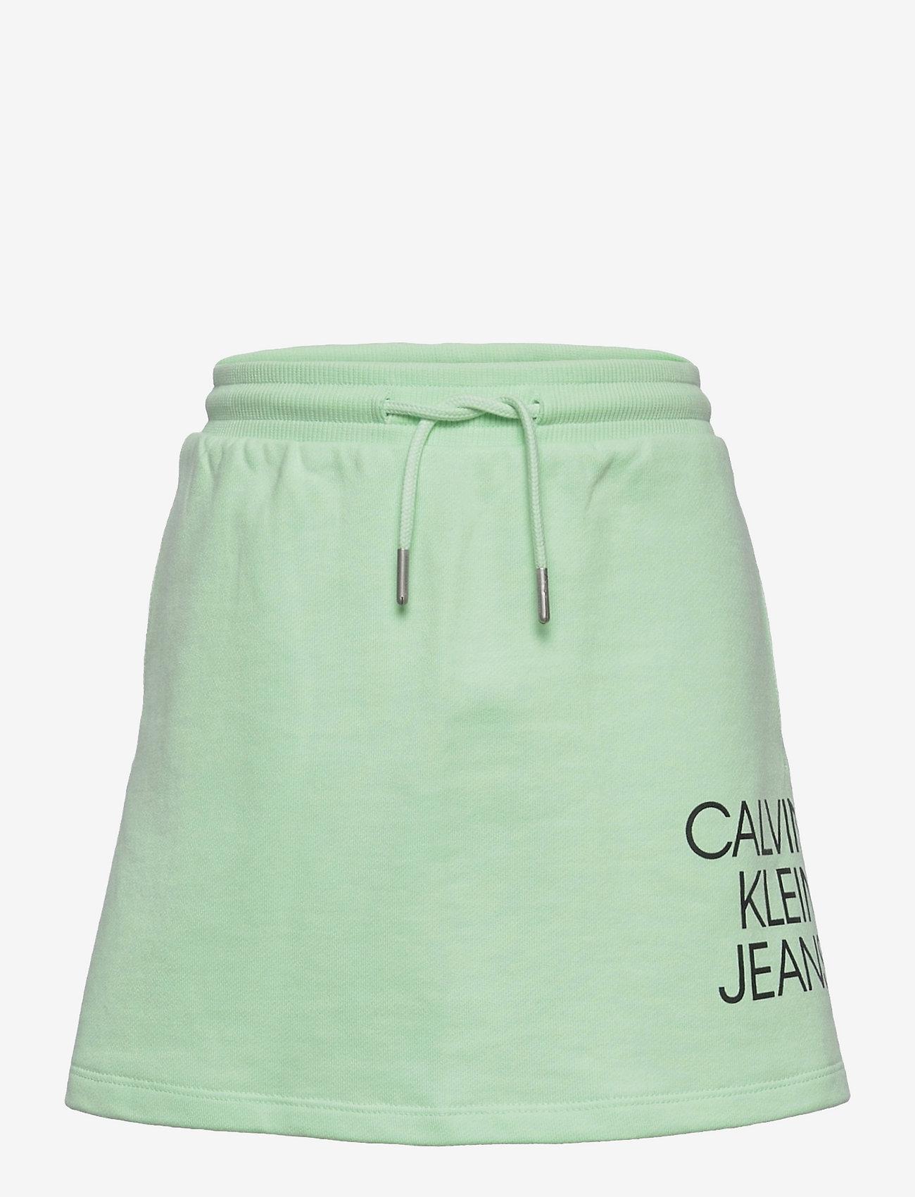 Calvin Klein - HYBRID LOGO SKIRT - jurken & rokjes - dew green - 0