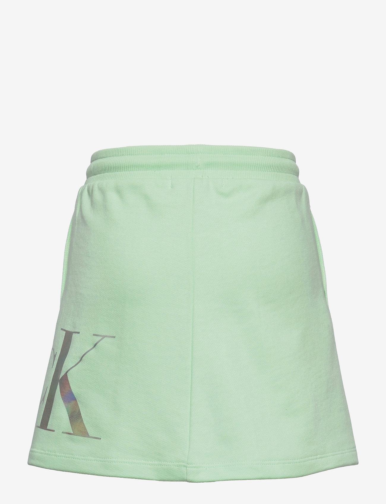 Calvin Klein - HYBRID LOGO SKIRT - jurken & rokjes - dew green - 1