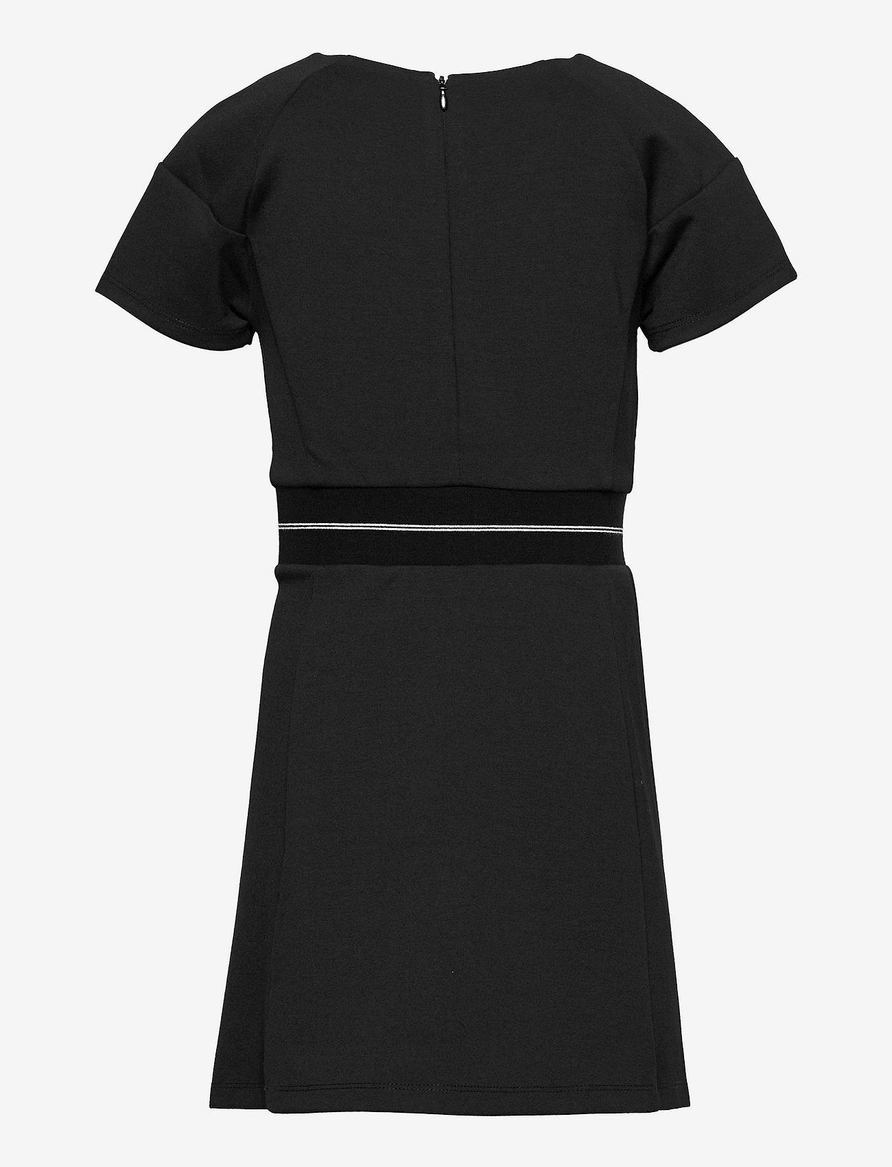 Calvin Klein - INTARSIA LOGO WAIST PUNTO DRESS - kleider - ck black - 1