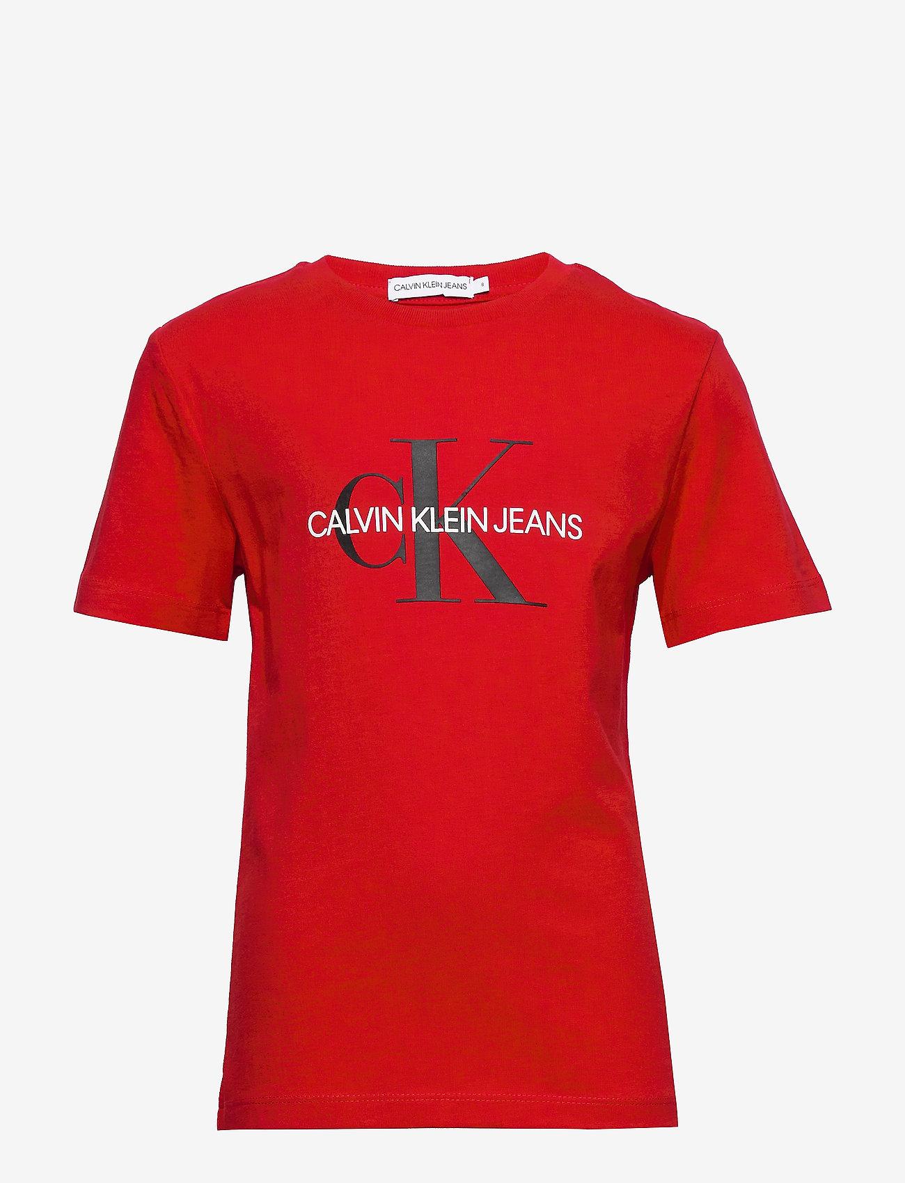 Calvin Klein - MONOGRAM LOGO T-SHIRT - korte mouwen - fierce red - 0