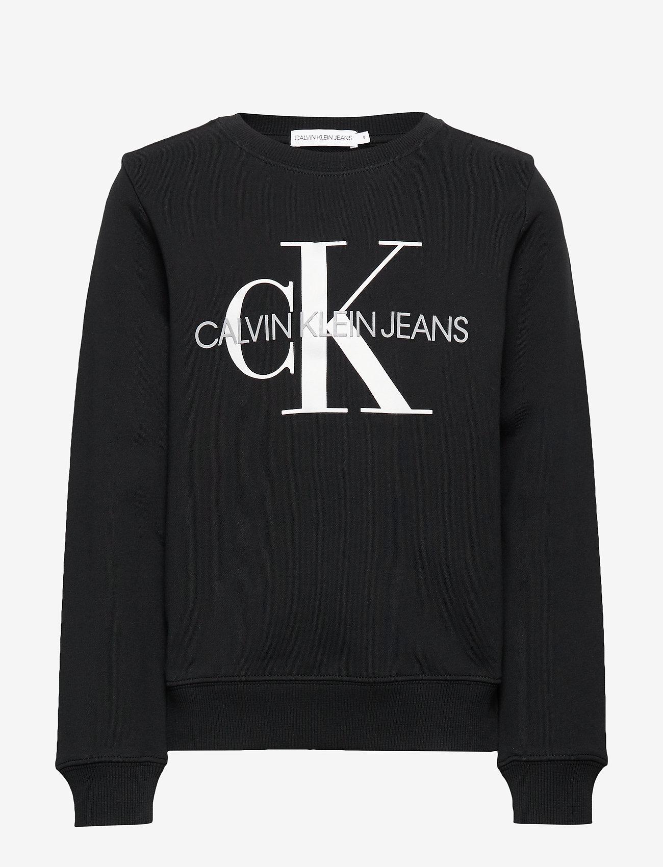 Calvin Klein - MONOGRAM LOGO SWEATSHIRT - sweatshirts - ck black - 0
