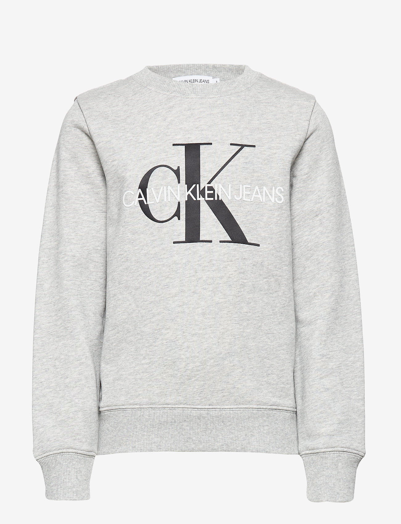 Calvin Klein - MONOGRAM LOGO SWEATSHIRT - sweatshirts - light grey heather - 0
