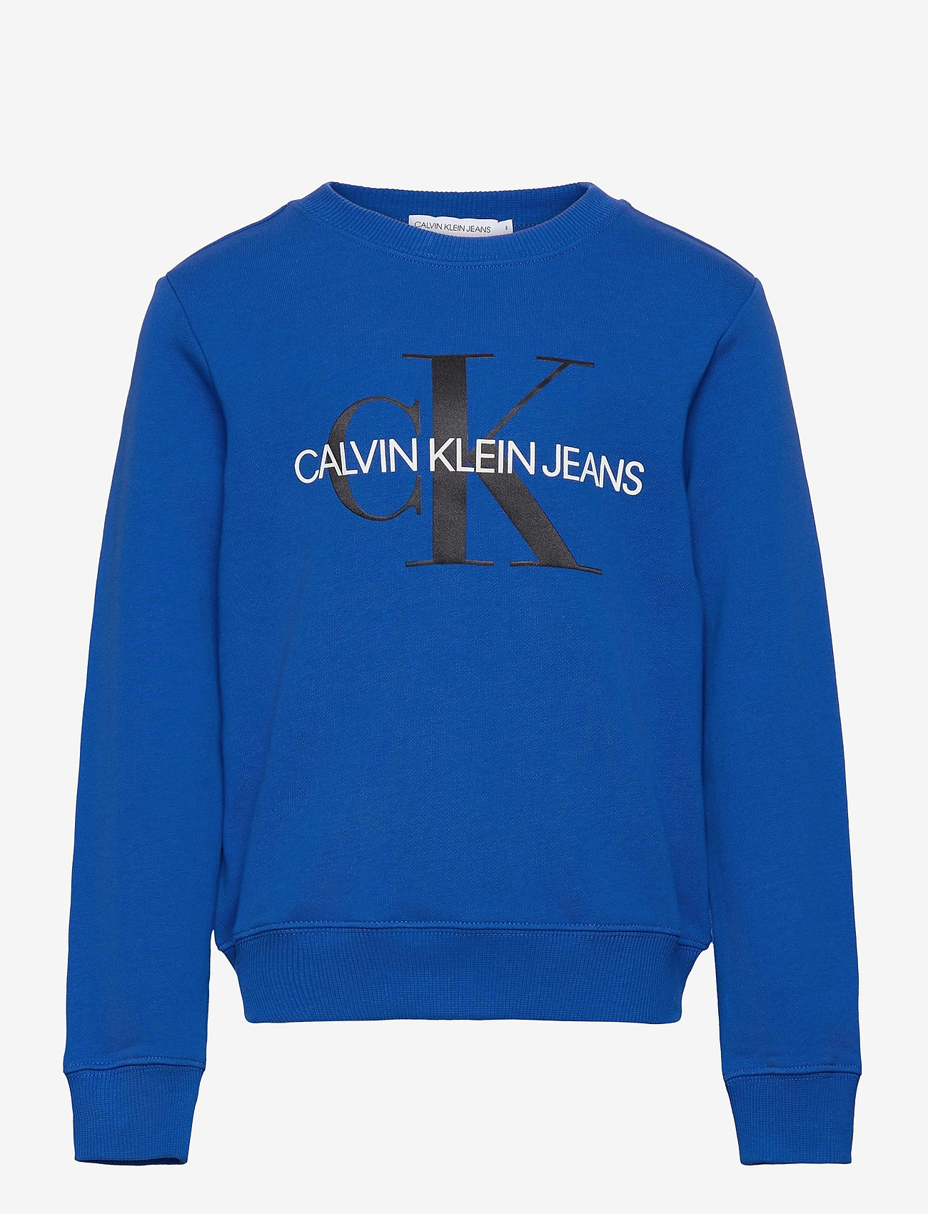Calvin Klein - MONOGRAM LOGO SWEATSHIRT - sweatshirts - ultra blue - 0