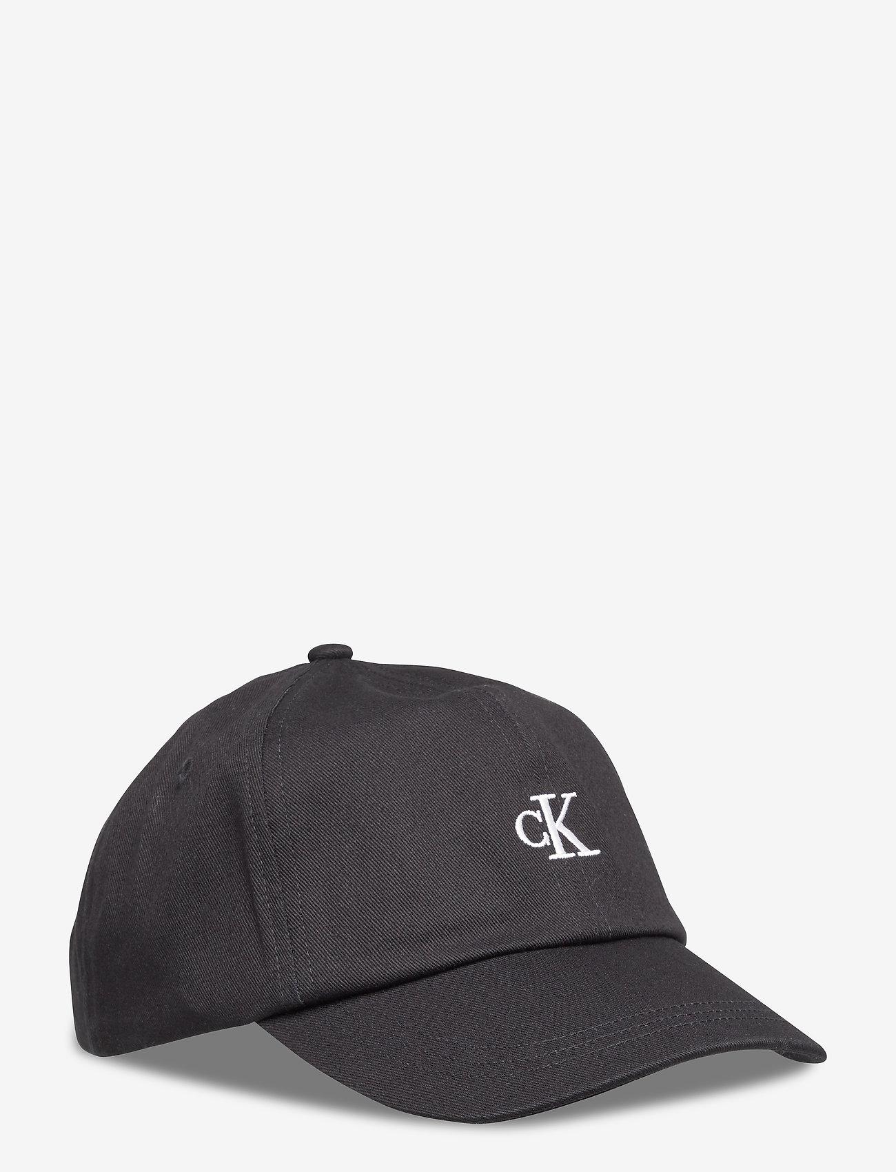 Calvin Klein - MONOGRAM BASEBALL CAP - czapki - ck black - 0