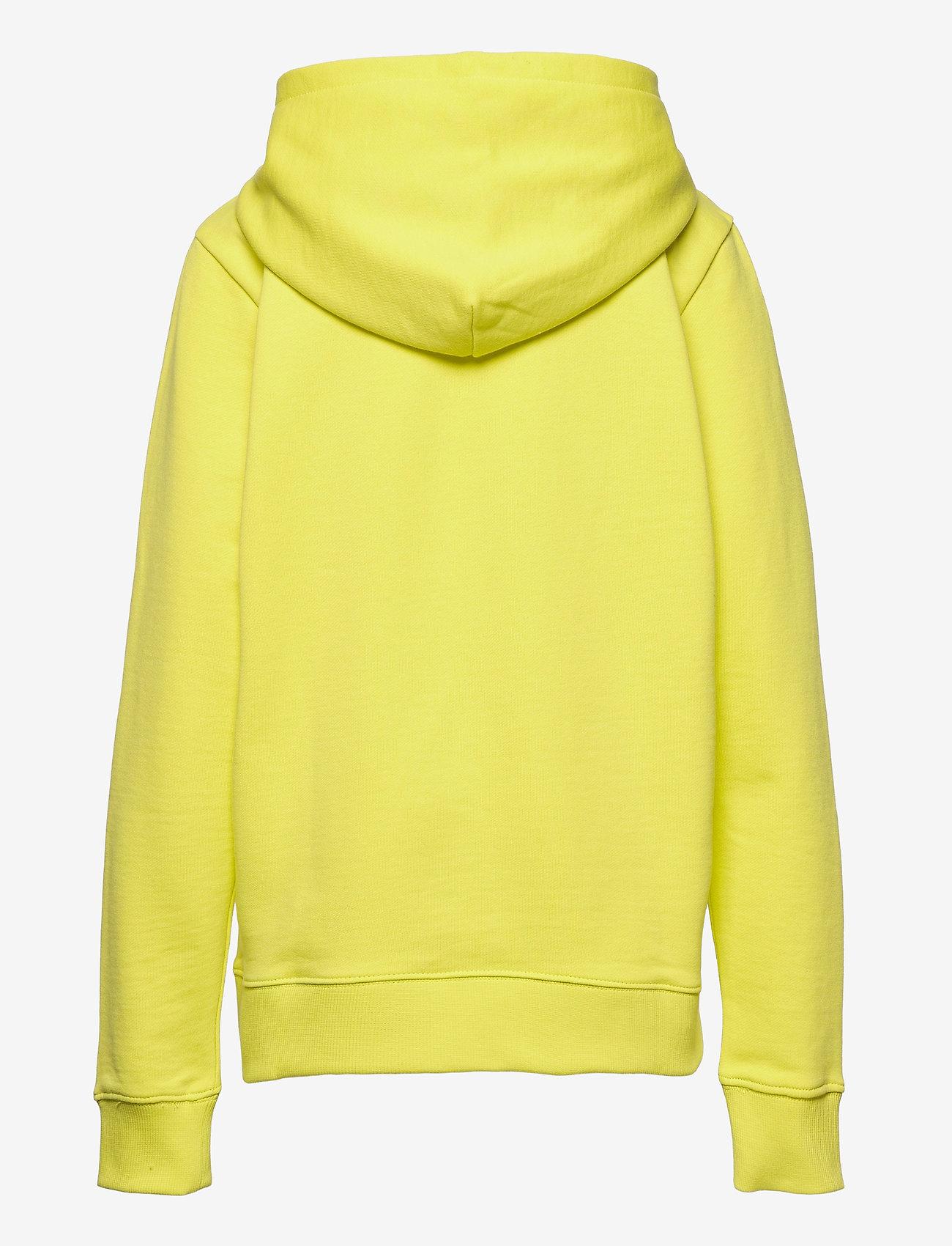 Calvin Klein - SMALL MONOGRAM HOODIE - kapuzenpullover - yellow lime - 1