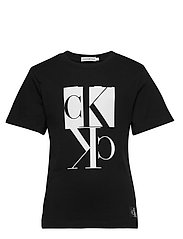 MIRROR MONOGRAM SS T-SHIRT - CK BLACK