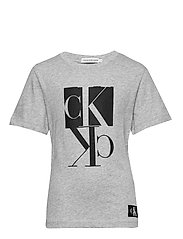 MIRROR MONOGRAM SS T-SHIRT - LIGHT GREY HEATHER