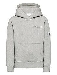 MONOGRAM SLEEVE HOODIE - LIGHT GREY HEATHER