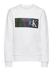 REFLECTIVE LOGO SWEATSHIRT - BRIGHT WHITE