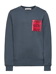 LOGO CHEST BOX SWEATSHIRT - ORION BLUE