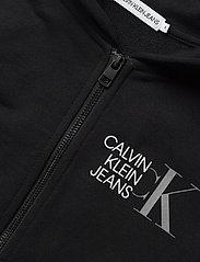 Calvin Klein - HYBRID LOGO ZIP THROUGH - kapuzenpullover - ck black - 2