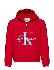 CK PACKABLE ANORAK WITH BUMBAG - RACING RED