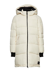 ESSENTIAL PUFFER LON - WHITECAP GRAY