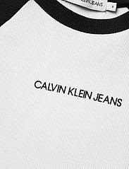 Calvin Klein - COLORBLOCK RIB SS TOP - korte mouwen - ck black - 2