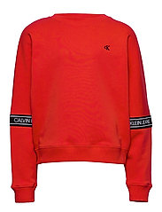 LOGO TAPE SWEATSHIRT - FIERCE RED