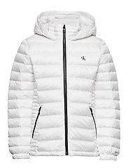 FITTED LIGHT DOWN JACKET - BRIGHT WHITE