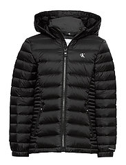 FITTED LIGHT DOWN JACKET - CK BLACK
