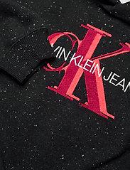 Calvin Klein - OVERLAPPING MONOGRAM BOXY HOODIE - kapuzenpullover - ck black - 2