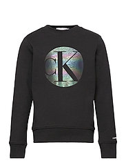 CIRCLE MONOGRAM SWEATSHIRT - CK BLACK