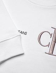 Calvin Klein - RAISED MONOGRAM SWEATSHIRT - sweatshirts - bright white - 2