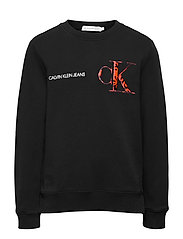 RAISED MONOGRAM SWEATSHIRT - CK BLACK