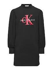 OVERLAPPING MONOGRAM DRESS - CK BLACK