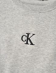 Calvin Klein - SHORT DRESS WITH PIPING DETAIL - kleider - light grey heather - 2