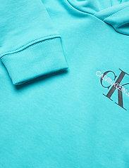 Calvin Klein - SMALL MONOGRAM HOODIE - kapuzenpullover - bright sky - 2