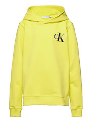 SMALL MONOGRAM HOODIE - YELLOW LIME