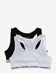 Calvin Klein - 2PK BRALETTE - tops - white/black - 0